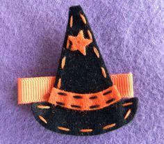 Witch's Hat Felt Hair Clippie