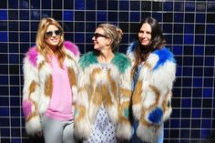 multi coloured fur jackets by Isabel Marant