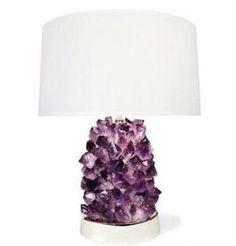 Amethyst lamp.