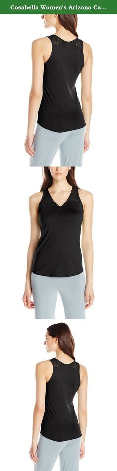 Cosabella Women's Arizona Camisole, Black, Medium. Made from soft pima cotton featuring lace insert detail at shoulder straps.