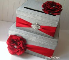 Wedding Card Boxes Custom Made Money Holder  by LaceyClaireDesigns, $100.00