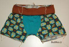 BoB: Boxerky od Budilky - Fotonávod - Budilka Boxer, Casual Shorts, Sewing Patterns, Decor, Fashion, Models, Underwear, Totes, Dressmaking