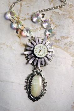 Ethereal Light Steampunk Necklace