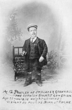 A.G. PRATLEY   Cornwall: 'The Cornish Dwarf Comedian', aged 22. Born in Roche.     ✫ღ⊰n