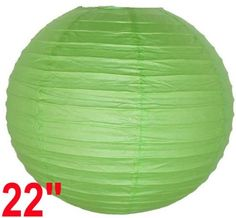 """Light Green Chinese/Japanese Paper Lantern/Lamp 22"""" Diameter - Just Artifacts Brand by Just Artifacts. $2.98. Great for party and home decoration. Check Just Artifacts products for more available colors/sizes."""