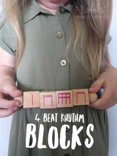 Kodaly Inspired Classroom - 4 Beat Rhythm Blocks - such a fun manipulative to use in the elementary music room. Perfect for dictation, decoding rhythm patterns, composing new patterns, figuring out the rhythms of a song, music centers and more!