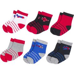 Growing Socks by #Peds, Boys' Infant, Airplanes, 6 Pairs - Walmart.com Shop now @walmart #PedsBaby #GrowingSocks