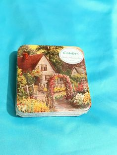 NIP English Cottage Shabby Coasters Pkg of 6 Cork Bottoms  / Backs #graphicdesign