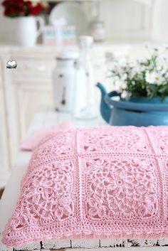 Granny Square Cushion   Flickr - Photo Sharing!