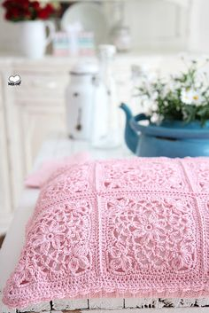 Granny Square Cushion | Flickr - Photo Sharing!