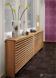 How to style up your Central Heating - Love Chic Living Modern radiator cover Modern Radiator Cover, Home Radiators, Baseboard Heater Covers, Wall Heater Cover, Baseboard Heaters, Baseboard Styles, Baseboard Ideas, Celebrity Houses, Diy Furniture