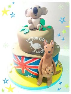 Australian Koala Bear and Kangaroo Chocolate Mud Cake