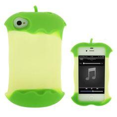 Klokhuis-bitten apple iPhone hoesje/cover