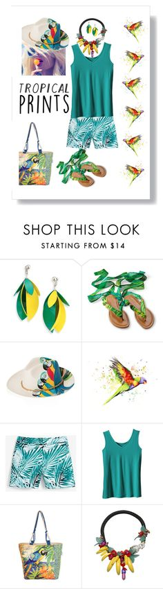 """Summer Tropics"" by petalp ❤ liked on Polyvore featuring Proenza Schouler, White House Black Market, TravelSmith, Guy Harvey, La Hormiga, tropicalprints and hottropics"