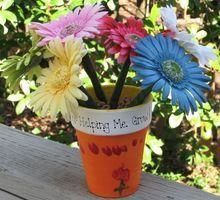 Flower pot with flower writing pens   Flower Pot   Pinterest   Writing pens