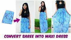 DIY: Convert Old Saree Into Maxi Dress