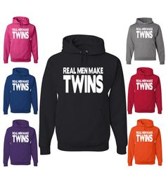Real Men Make Twins Funny Hoodie For Father Of Twins Funny Father's Day Gift