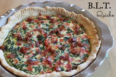 perfect brunch B.L.T. quiche -