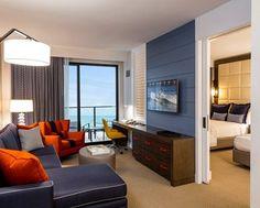 Hilton Waterfront Beach Resort Hotel, Huntington Beach, CA -Accessible Bathroom  | CA 92648