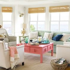 Fresh, bright living room