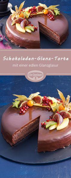 Schokoladen-Glanz-Torte: Schokoladentorte, überzogen mit einer edlen Glanzglasur #schokoladentorte #torte #rezept