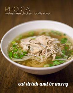 Vietnamese Chicken Soup Pho Ga
