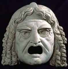 Maschera comica femminile Marmo Roma, Museo Archeologico Nazionale Romano - Palazzo Massimo