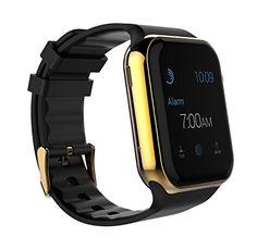 Scinex Unisex SW20 16GB Bluetooth Smart Watch GSM Phone, Gold / Black