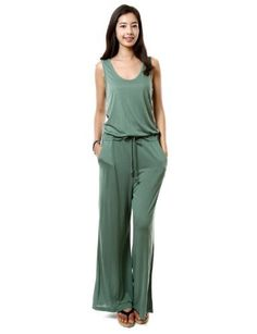 Industries Needs — Doublju Jumpsuit with Tank and Long Wide Pants...