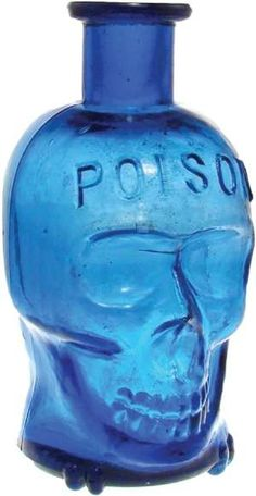 Skull poison bottle