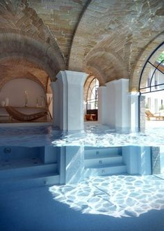 Swimming Pool. Anyone else reminded of Tomb Raider?