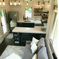 our new Tiny House Kitchen! -What's in our new Tiny House Kitchen! -in our new Tiny House Kitchen! -What's in our new Tiny House Kitchen! Tiny House Plans, Tiny House On Wheels, Guest House Plans, Tiny House With Loft, Tiny House Shed, Tiny Home Floor Plans, Tiny House Closet, Building A Tiny House, Tiny House Trailer