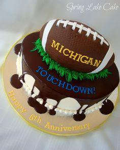 Michigan Football Anniversary cake by springlakecake