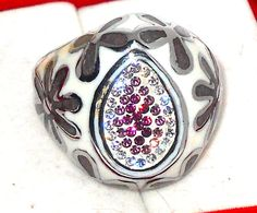 Swarovski+Crystal+pink+and+white+enamel+ring+size+9+++#Unbranded+#Cluster http://stores.ebay.com/JEWELRY-AND-GIFTS-BY-ALICE-AND-ANN