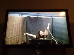 Jenna Ushkowitz recording her first song for Glee Season 6