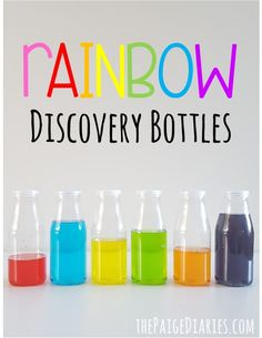 Rainbow Discovery Bottles – The Paige Diaries