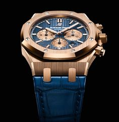 Audemars Piguet Royal Oak Chronograph, new 2017 models . The first Royal Oak Chronograph was presented by Audemars Piguet in 1997, 25 years after the launch of the iconic Royal Oak. To celebrate the 20th anniversary of the chronograph model, the brand based in Le Brassus created a new range of references featuring a fresh, two-tone dial design. The new Royal Oak chronograph is also available in a prestigious boutique edition crafted from titanium with a polished 950 platinum bezel and a…