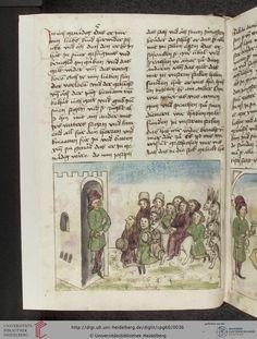 Cod. Pal. germ. 60: Historienbibel ; Irmhart Öser ; 'Brandans Reise' u.a. (Südwestdeutschland, um 1460), Fol 16v
