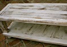 Antique Pallet Coffee Table | Reclaimed Wood Coffee Table - WIDE SIZE - Shabby, Handmade - Country ...