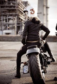 Vintage Motorbike Fashion – Triumph in 1960′s style  Eric says he will teach me to ride... Triumph here I come!!