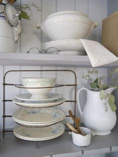 Display of favorite things at Chateau Chic blog