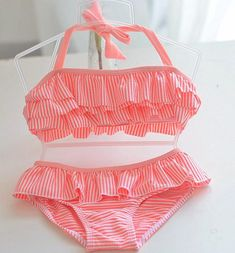 8e01da23bdcc9 Years Baby Girl Swimsuit Striped Bathing Suits For Children Two Pieces  Swimwear Beach Bikini Set Girls Biquini Infantil Suit