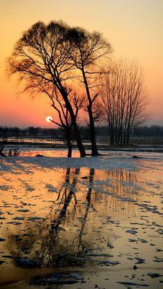sunset at Beijing, China http://learningchinesespeak.com