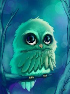 These owls are so cute Pěkné Kresby, Mláďata Zvířat, Umění Pro Děti, Umění Z Akrylu, Nápady Na Kreslení, Malířské Umění