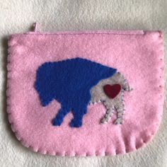 Your place to buy and sell all things handmade Felt Wallet, Card Wallet, Red Tigers Eye, Zipper Pouch, Buffalo, Coins, Coin Purse, Etsy Shop, Purses
