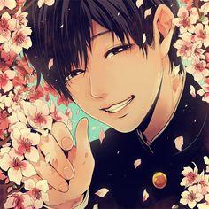 Su sonrisa me indicaba que todo estaba bien y que no había por que temer Hot Anime Boy, Anime Guys, Anime Manga, Anime Art, Flower Boys, Manga Illustration, Japan Art, Manga Pictures, Boy Art