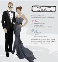 697df259adbf Black Tie Dress Code, Black Tie Attire, Creative Black Tie, Black Tie  Optional