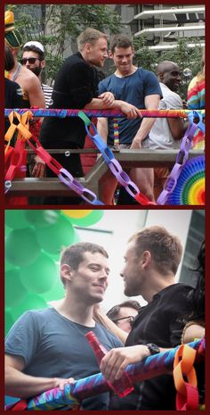 Max Riemelt & Brian J. Smith - The cast and crew of Netflix's Sense8 were at the parade, filming scenes for the show's upcoming second season (2016).