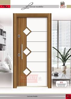 Best Wooden Door With Glass Window Ideas Flush Door Design, Door Gate Design, Main Door Design, Wooden Door Design, Wooden Doors, Bedroom Door Design, Door Design Interior, Plafond Design, Flush Doors