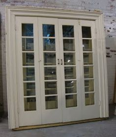 Black Dog Salvage - Architectural Antiques & Custom Designs: Antique SET of Interior Bifold French Doors Bifold French Doors, Internal French Doors, French Doors Patio, Double Doors, Interior Design Chicago, Interior Design Elements, This Ole House, External Wooden Doors, Sliding Pantry Doors
